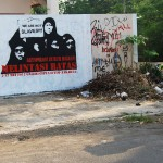 solidaritas buruh migran, stencil art on wall#2