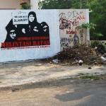solidaritas buruh migran, stencil art on wall#2